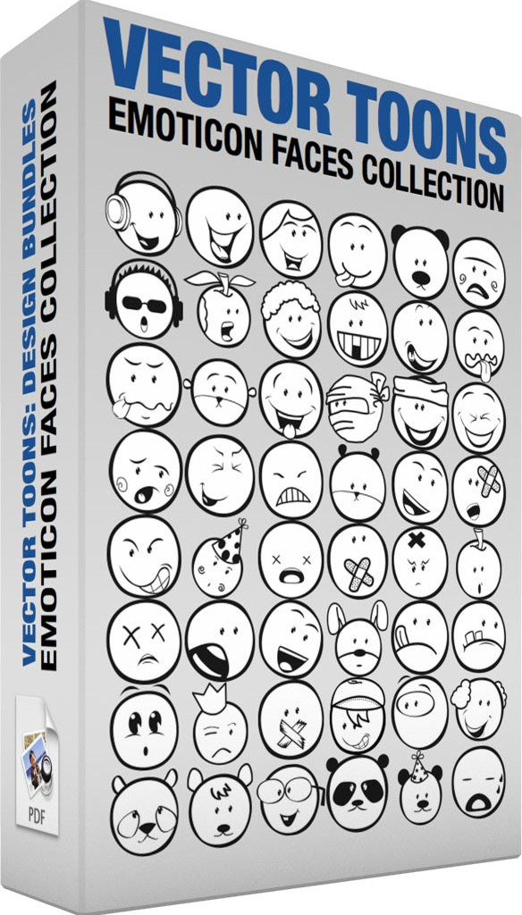 Emoticon faces collection
