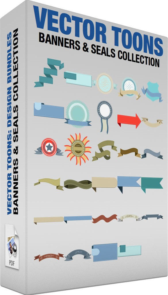 Banners and seals collection Royalty Free Vector Graphics