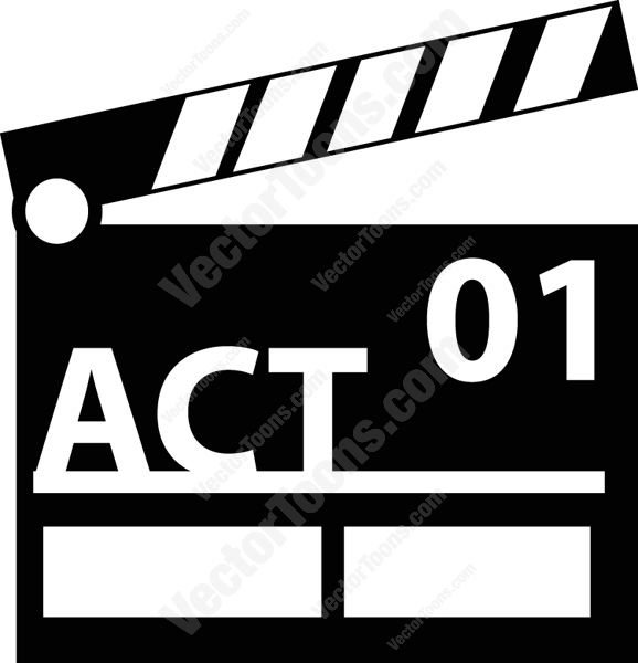 Black And White Director's Movie Clapperboard Computer Icon