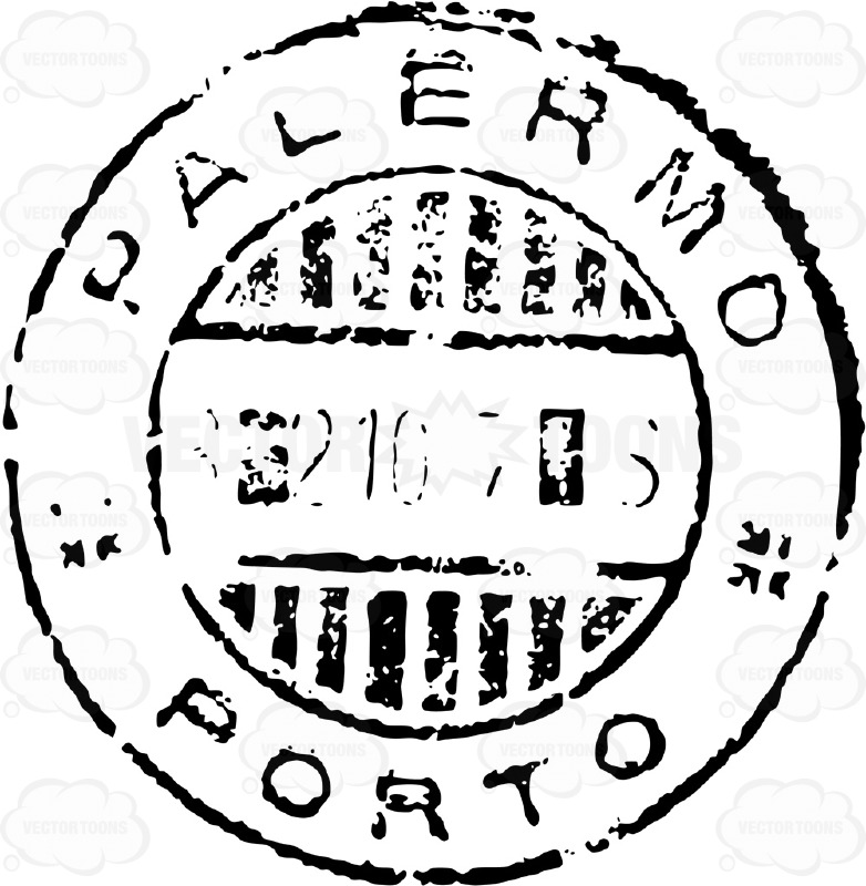 Province Of Palermo Italy Sicily Rubber Stamp Stock