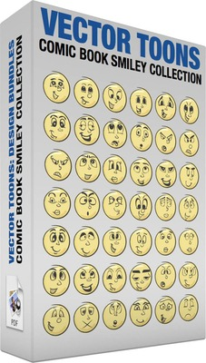 Comic book smiley collection