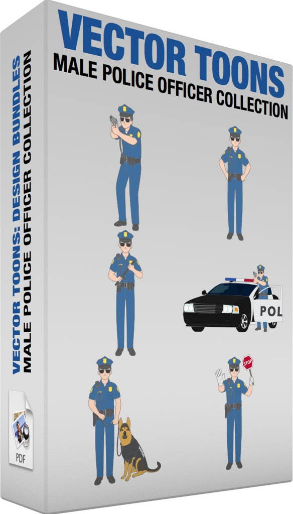 Male police officer collection