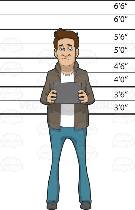 Caucasian Man Standing In Front Of A Height Measurement