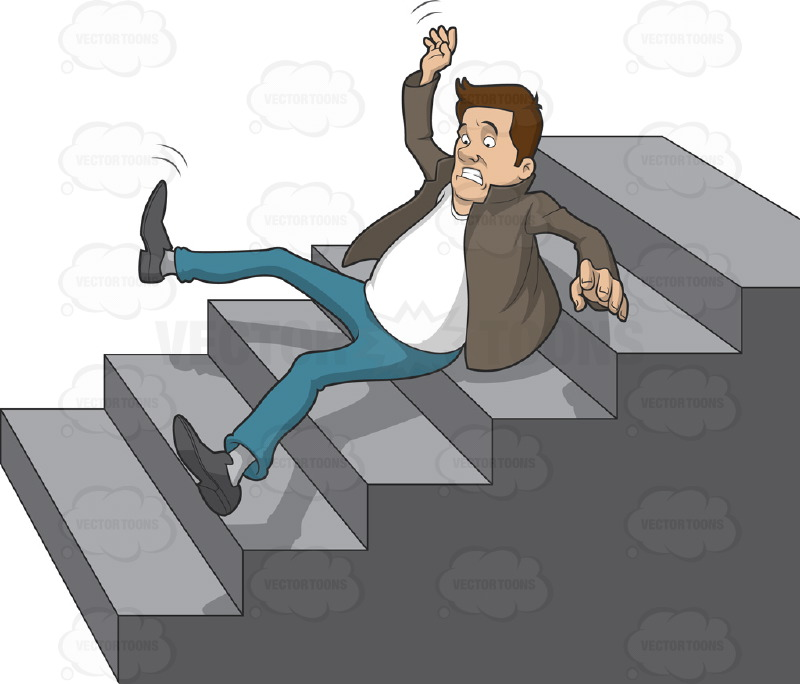 Royalty Free Stock Photos Accident Work Business Man Falling Down Stairs Office Concept Insurance Injury Claim Image36785548 also Pictures Of People Falling Down furthermore Clusterfuck together with Caucasian Man Slipping And Falling Down A Set Of Stairs together with Can Hillary Recover From A Fall. on old man falling down stairs