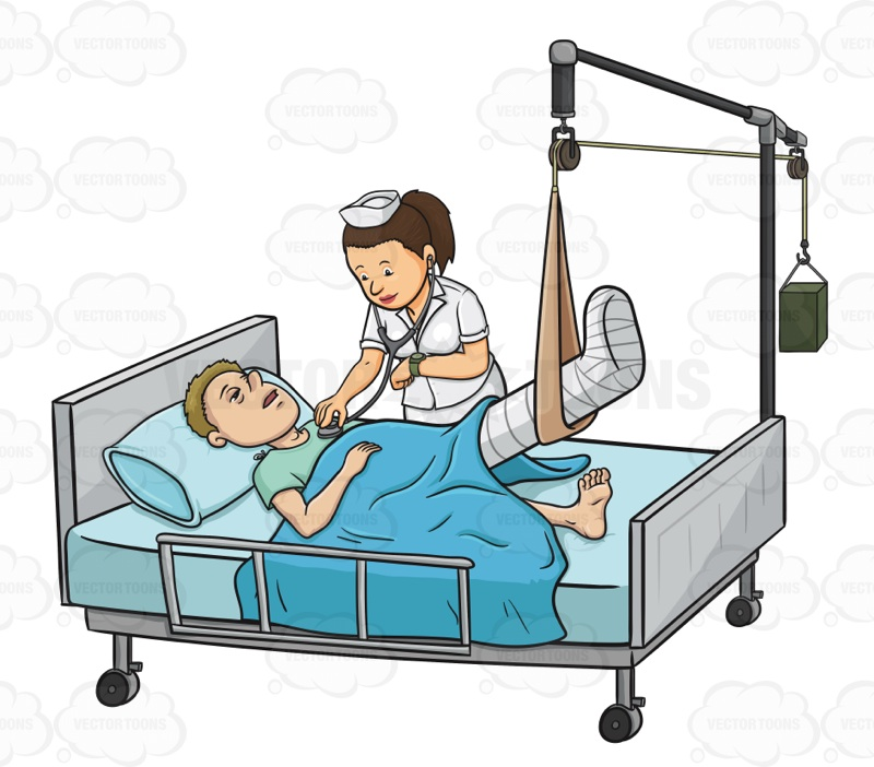 Hospital Bed And Stretcher Collection Vector Graphics