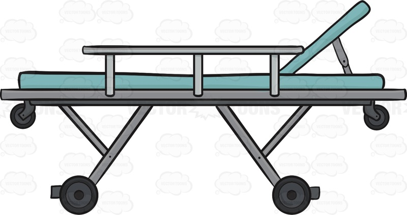 Hospital bed and stretcher collection • Vector Graphics ...