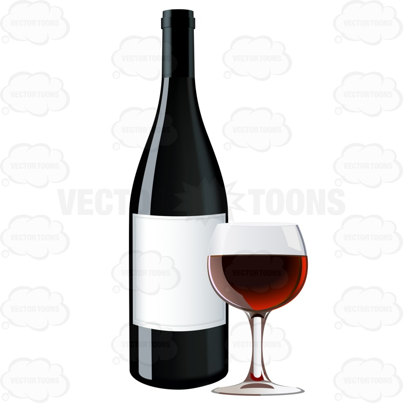 Red wine bottle next to a glass of red wine stock for Red glass wine bottles suppliers