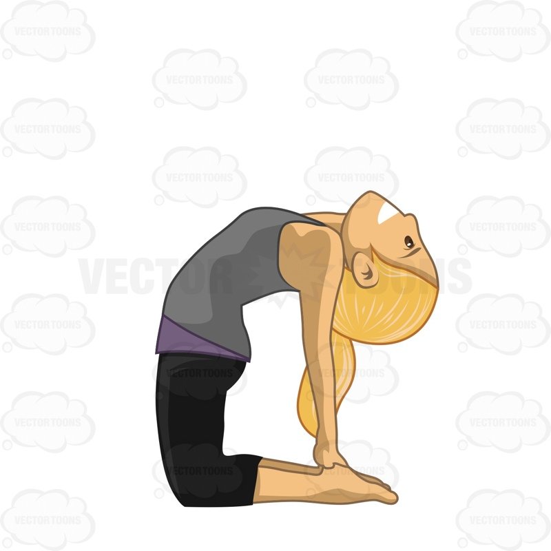 Woman Doing The Ustrasana Or Camel Pose