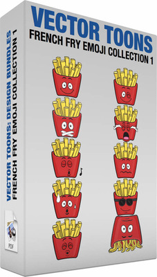 French fry emoji collection 1