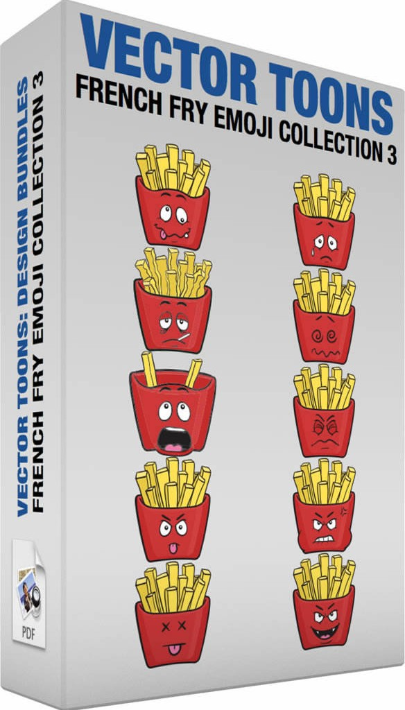 French fry emoji collection 3