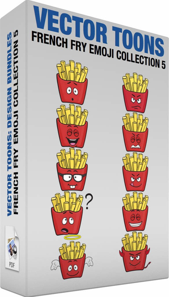 French fry emoji collection 5