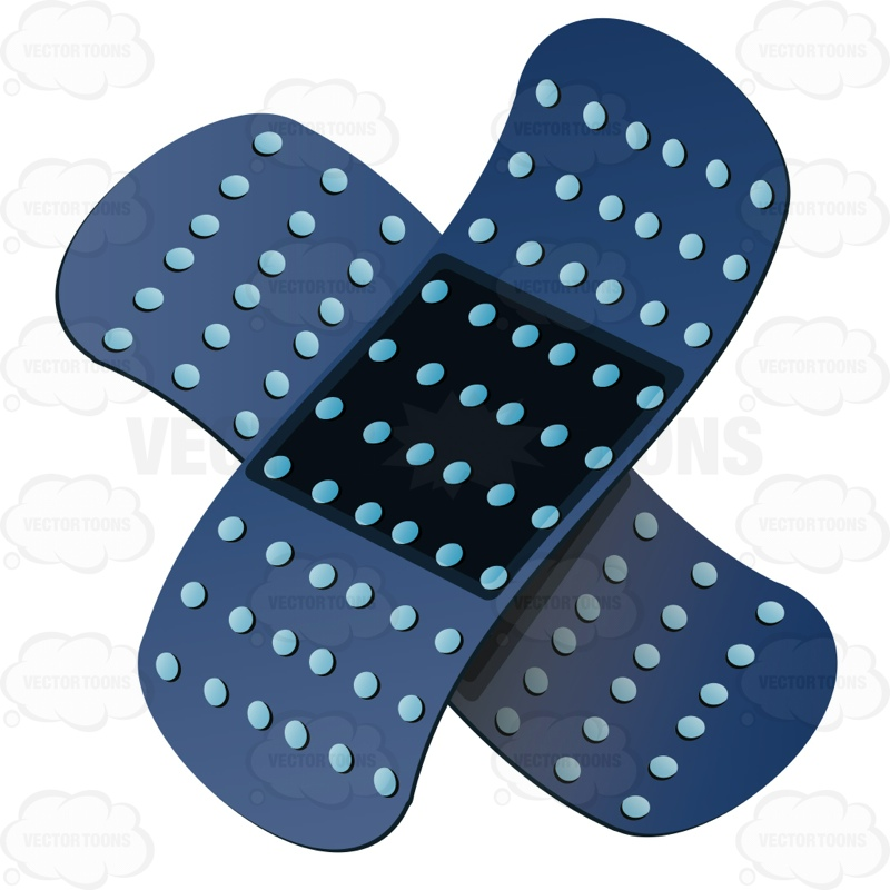 Two Blue Band Aids