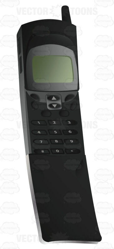 One Of The First Models Of Flip Phones