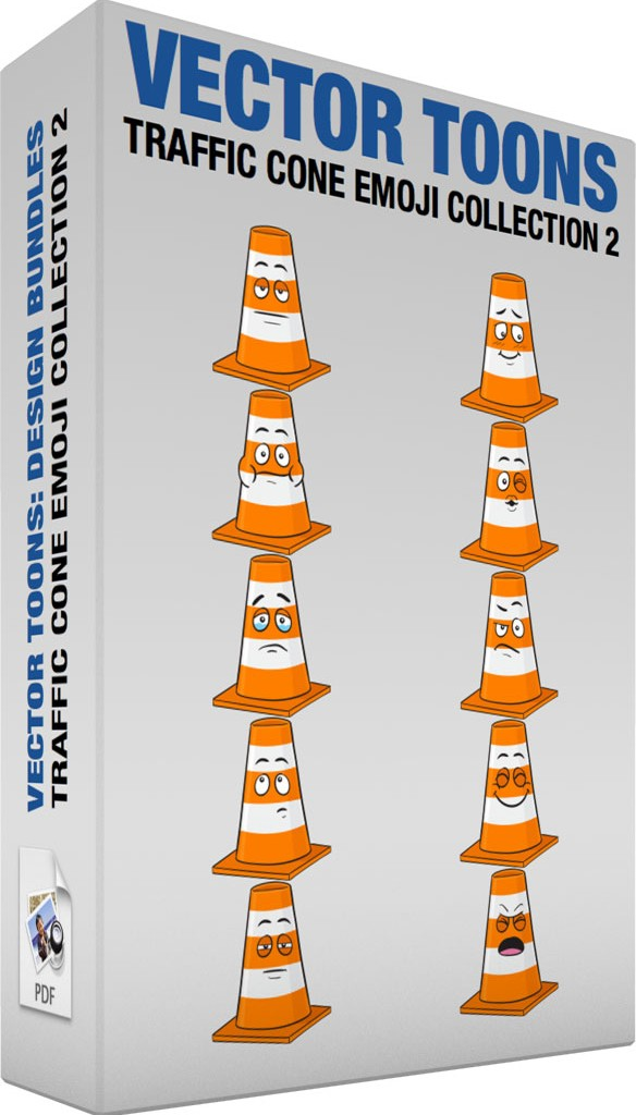 Traffic cone emoji collection 2