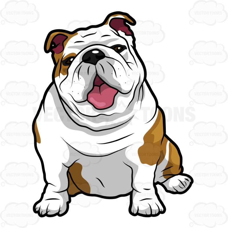 Cute english bulldog cartoon - photo#24