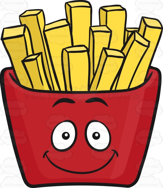 French Fries In Jolly Red Pack Emoji