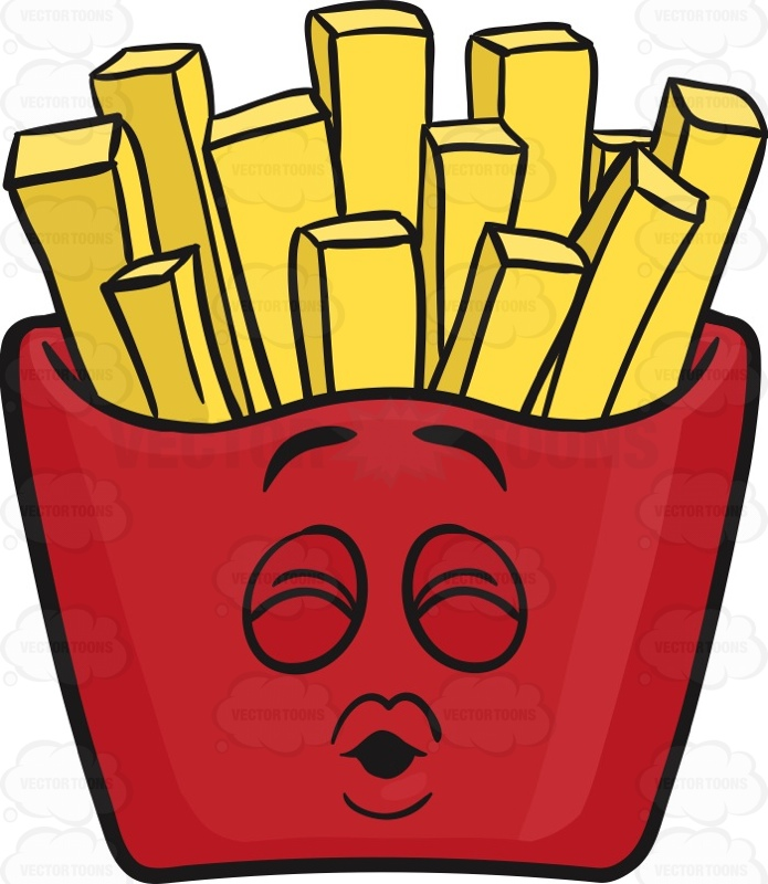 Sealed With A Kiss Red Pack Of French Fries Emoji
