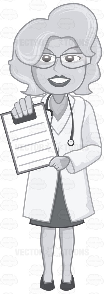 Female Doctor Showing The Clipboard Content
