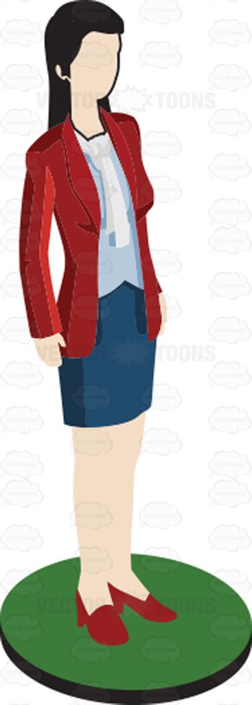 Woman In Red Blazer Pawn Figurine