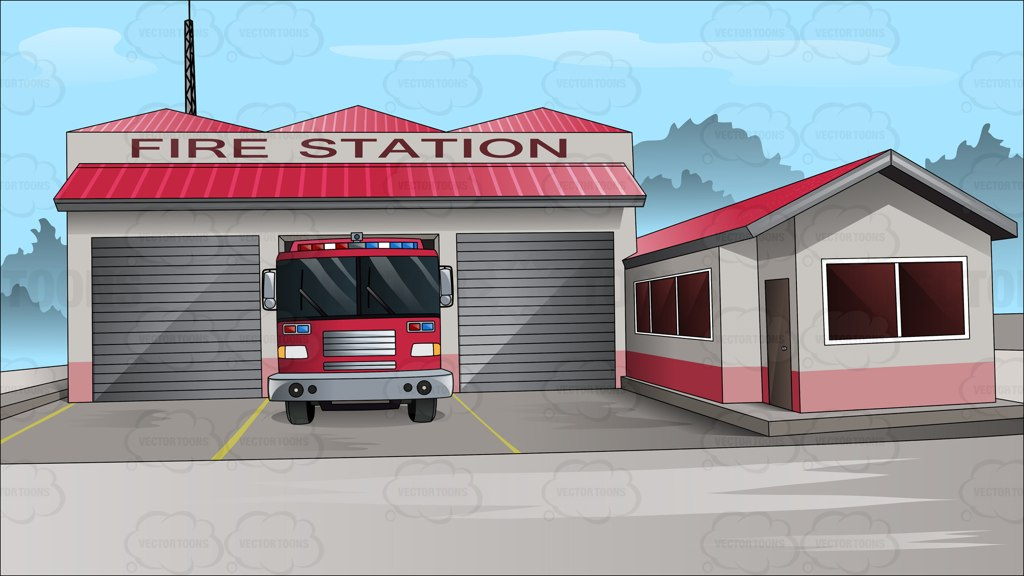 Outside The Town Fire Station 1