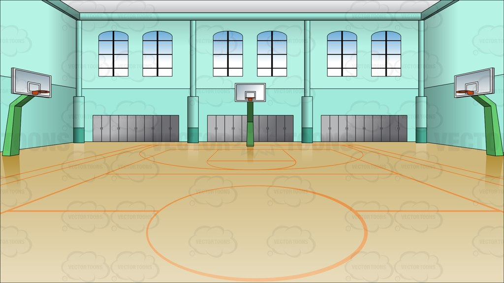 Indoor basketball court background vector graphics for Free inside basketball courts
