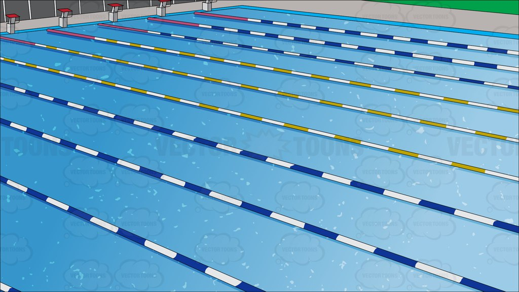 Outdoor Competition Swimming Pool Background Vector Graphics