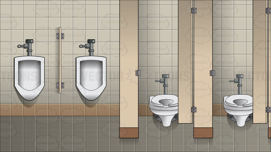 The Interior Of A Men 39 S Public Bathroom Background Vector Graphics
