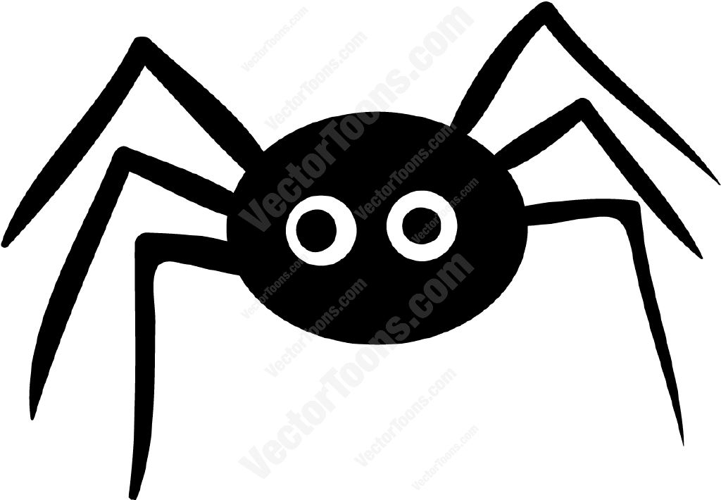 Cute Spider Cartoon Black And White