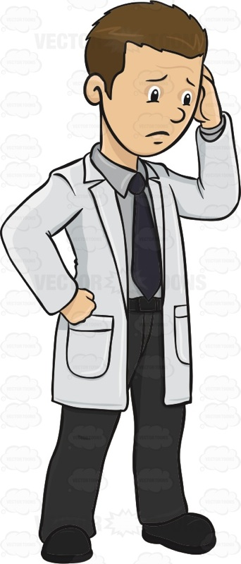 Doctor Has His Hand On His Head He Appears Worried ...