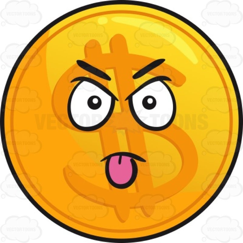Sour Grossed Out Sick Face Emoticon With Green Tongue ...