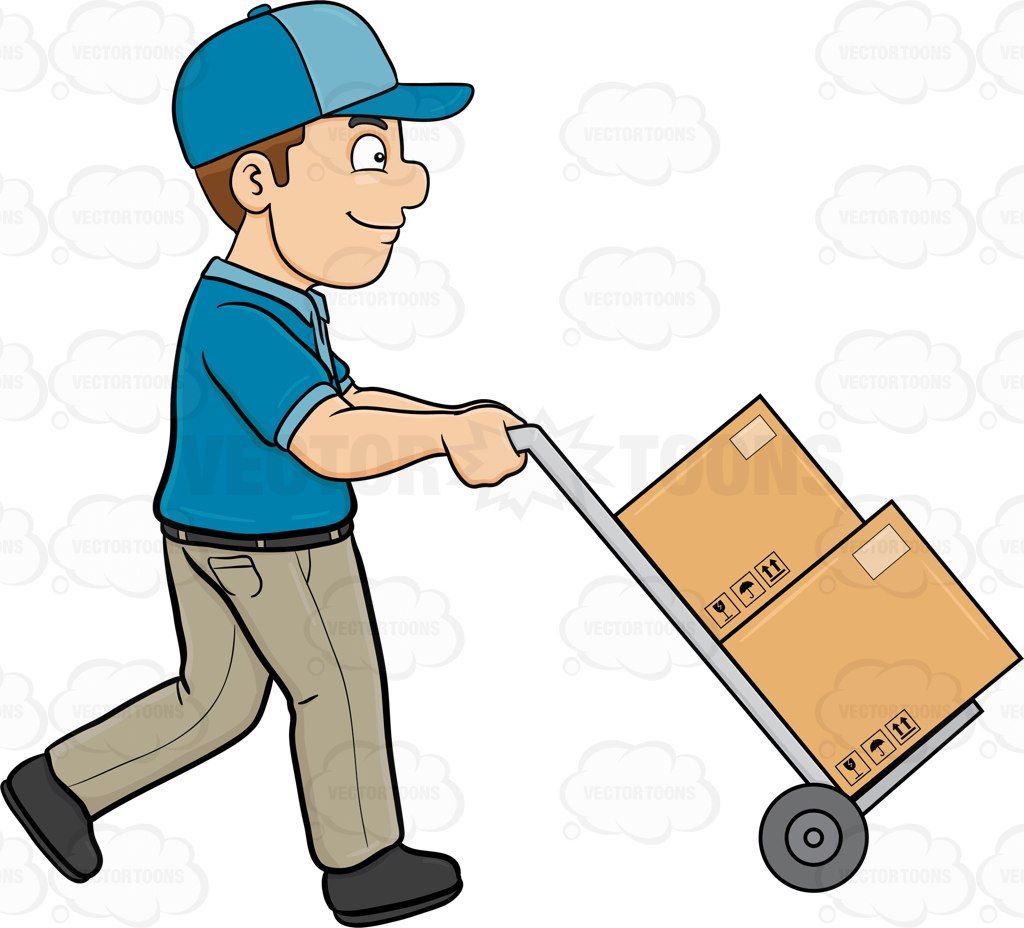 clipart delivery man - photo #4